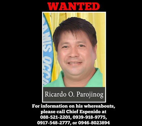 pnp parojinog ricardo wanted
